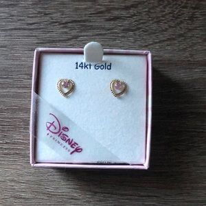 NWT Disney Princess 14k gold earrings